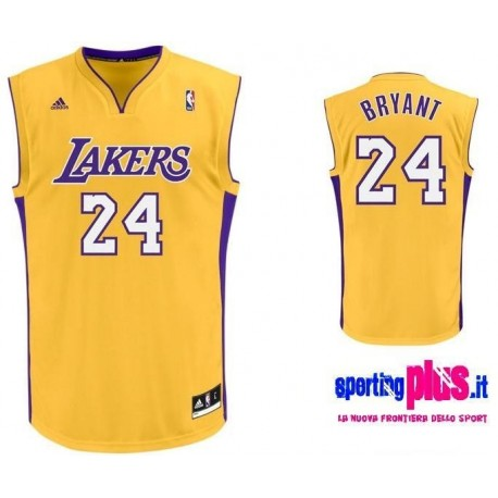 Los Angeles Lakers Basketball Jersey by Adidas-Kobe Bryant 24
