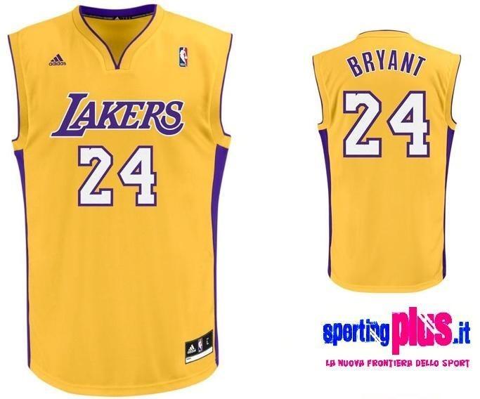 Los Angeles Lakers Basketball Jersey by Adidas-Kobe Bryant 24 ...
