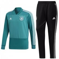 Tuta tecnica Hybrid sweat allenamento Nazionale Germania 2018/19 verde - Adidas