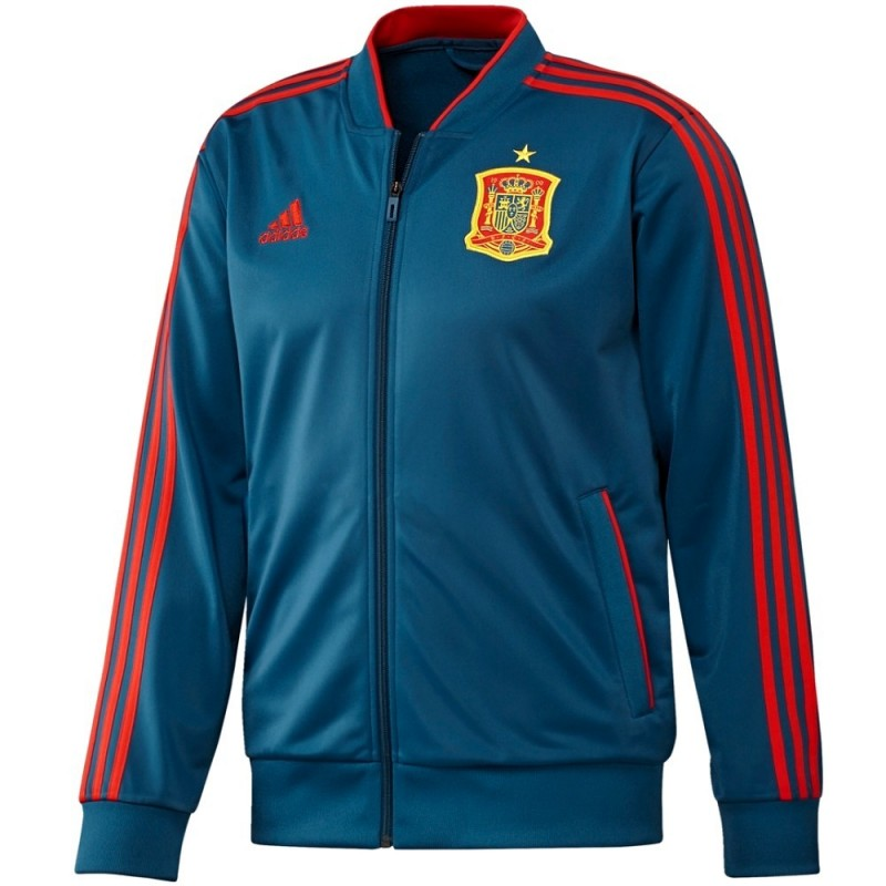 Spain Players Training Bench Tracksuit 2018 19 Adidas